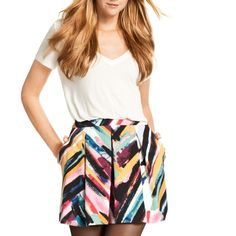 H&M Skirt Super cute and short skirt . No damages in it and looks great with a white or black T-Shirt . Fits someone that wears a size 8 or so in jeans . H&M Skirts Mini