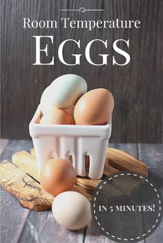 Room Temperature Eggs in 5 minutes with this easy tip! http://www.mind-over-batter.com