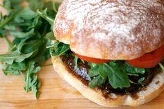 Well Vegan. Grilled Portobello + Basil Aioli.