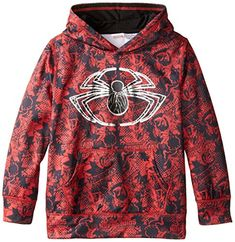 Marvel Boys Spiderman Sublistatic Pullover Hoodie Red 8 @ niftywarehouse.com #NiftyWarehouse #Geek #Gifts #Collectibles #Entertainment #Merch