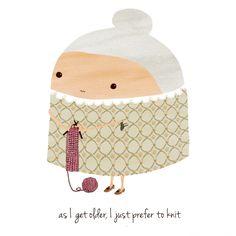 """""""as i get older, i just prefer to knit"""" – a grape design"""