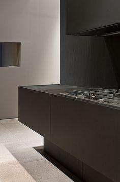 *kitchen, modern interior design, wenge' wood*