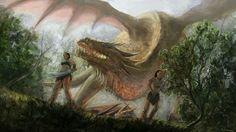 Witcher art - Golden Dragon