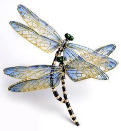 Dragonflies. Kunio Nakajima Jewellery Garden beautiful piece. Would make a great tattoo.