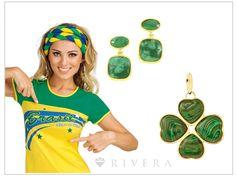 Blog Rivera Joias: Joias para torcer pelo Brasil na Copa 2014!