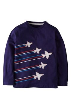 Mini Boden Embroidered Appliqué T-Shirt (Toddler Boys, Little Boys & Big Boys) available at #Nordstrom