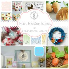 There were so many great ideas for Easter and Spring. Here are 8 Fun Easter Crafts Easter Activities, Easter Crafts For Kids, Easter Ideas, Design Crafts, Diy Crafts, Hoppy Easter, Easter Bunny, Easter Cupcakes, Easter Celebration