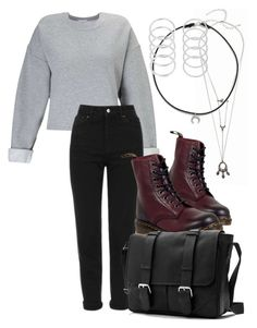 """""""Audrey Jensen"""" by stylemtvscream ❤ liked on Polyvore featuring Miss Selfridge, Topshop, Dr. Martens, Dogeared, outfit, Inspired, scream and audreyjensen"""