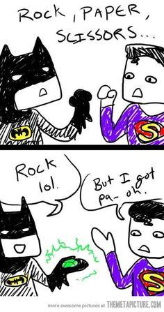 Unfair Batman…