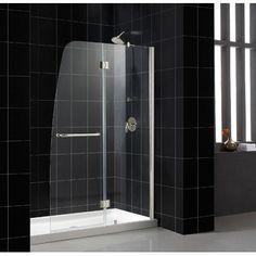 Dreamline Aqua Hinged Shower Door In Clear Gl Wayfair