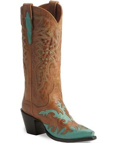 Dan Post Boots in brown & turquoise