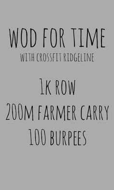 crossfit ridgeline wod for time