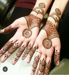 Full Hand Mehndi Design Henna Hand Designs, Beautiful Henna Designs, Mehndi Designs For Hands, Mehndi Desine, Mehndi Style, Henna Meaning, Mandala Wolf, Henna Mandala, Mandala Art