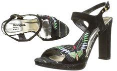 #Desigual Schuhe - Modell Marylin - Butterfly Pumps. Muster: Schmetterling, schwarz.