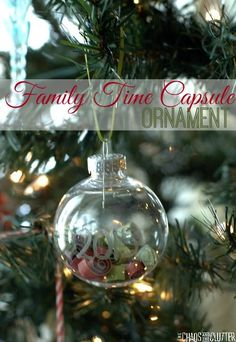 Capture your family's memories from the year into a keepsake ornament that can be opened in future years. A time capsule that can be hung on your Christmas tree! Christmas Ornaments To Make, Christmas Crafts For Kids, Christmas Activities, Homemade Christmas, Family Christmas, Christmas Projects, Christmas Traditions, All Things Christmas, Christmas Holidays