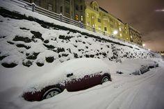 Snowy Helsinki, Finland