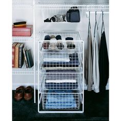 ClosetMaid 12.11 In. W 2 Tier Ventilated Wire Sliding Cabinet Organizer In  White | Pinterest | Cabinet Organizers, Wire Basket And Hardware