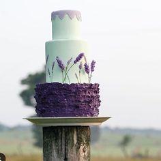 Bolo decorado com lavanda!  Inspiração para quem vai casar no campo!  #bolododiandl #bolo #bolocomflores #lavanda #bolodecasamento #casamentonocampo #casamentoaoarlivre #noivinhasdeluxo #cake #weddingcake
