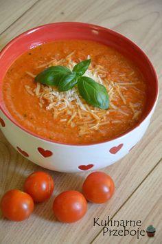 zupa krem z suszonymi pomidorami, zupa krem ze świeżych i suszonych pomidorów, zupa pomidorowa z suszonymi pomidorami i parmezanem