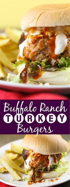 Buffalo Ranch Turkey Burgers | This is a super easy, delicious and affordable way to dress up a burger! The perfect weeknight dinner!