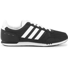 official photos 10ab6 c71a7 ... adidas Neo City Racer Black and White Sneakers ( 165) ❤ liked on  Polyvore featuring adidas neo casual shoes ...