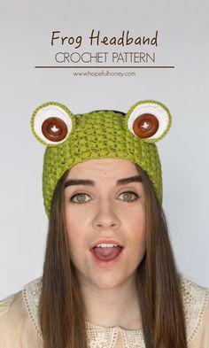 Frog Headband - Free Crochet Pattern