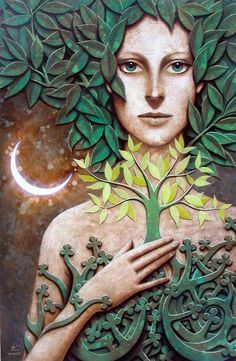 Matteo Arfanotti ~ Tree of Life Fantasy Kunst, Fantasy Art, Carillons Diy, Art Visionnaire, Tree Of Life Art, Nature Spirits, Inspiration Art, Visionary Art, Mother Earth