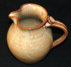 Wheel Thrown Pottery Pitcher Stoneware Wine by littlebearclayworks