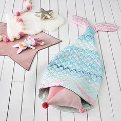 Mint Mermaid Tail Sleeping Bag