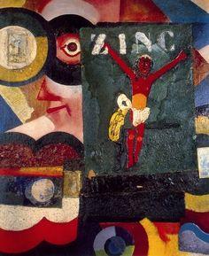 Zinc 1917 Poster by SouzaCardoso Amadeo de. Cubist Art, Abstract Art, Collages, Modernisme, Religious Paintings, Reproduction, Art Database, Sculpture, Western Art