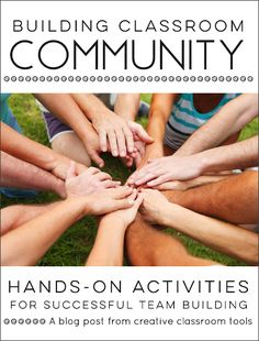 Build positive classroom community with these easy, hands-on activities and games. They are great for back to school or any time your students need a focus on class or team building. Classroom Team Building Activities, Team Building Games, Classroom Tools, Classroom Environment, Classroom Management, Classroom Ideas, Team Games, Classroom Organization, Organization Ideas