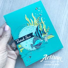 Stampin' Up! Seaside Shore Thank You Card