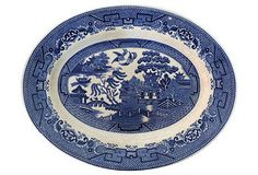 Blue Willow English Serving Platter