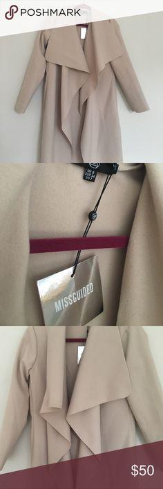 Selling this Oversized waterfall dusted coat on Poshmark! My username is: ddudds. #shopmycloset #poshmark #fashion #shopping #style #forsale #Missguided #Jackets & Blazers