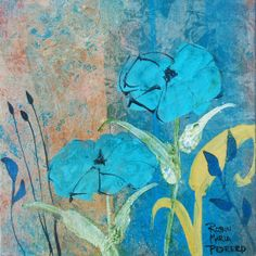 Blue Ambiance floral print by RobinMariaPedrero on Etsy, $20.00