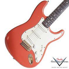 "1996 Fender Custom Shop, 1959 Stratocaster Relic, ""Red Head"" | Available at Garrett Park Guitars | www.gpguitars.com"