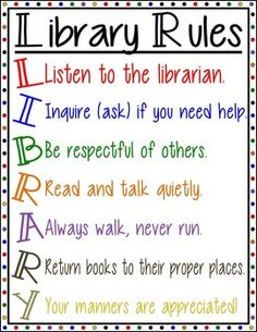 Display - Library Rules Poster Set