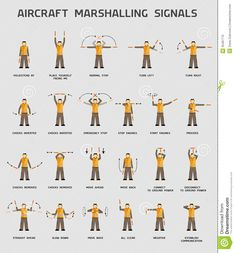 Aircraft Marshalling Signals - Download From Over 38 Million High Quality Stock Photos, Images, Vectors. Sign up for FREE today. Image: 35487770