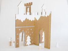 DIY winter cardboard castle by La maison de Loulou-4