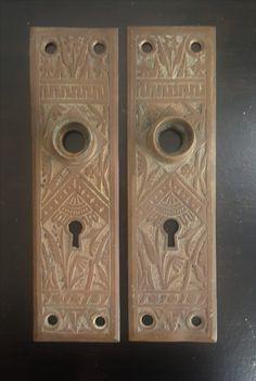 Oriental Bronze Antique Back Plates 530872 by CharlestonHardwareCo on Etsy