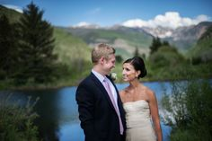 Dave and Taylor's classic Vail wedding on the knot.