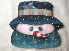 Puddles of Paint, Tole and Decorative Painting by Susan Kelley. Books, pattern packets, ornament CDs, free patterns and more! Christmas Images, Christmas Snowman, Winter Christmas, Christmas Ornaments, Xmas, Snowman Faces, Cute Snowman, Snowman Crafts, Snowmen Pictures