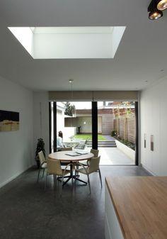 Patio, Backyard, House Extensions, Townhouse, Tiny House, Facade, Design Inspiration, House Design, Living Room