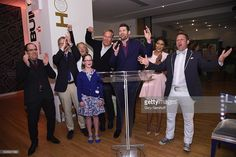 Matthew Bernardo, Michael Boodro, Alessandra Branca, James Ford Huniford, Billy Eichner, Nicole Gibbons, and George Oliphant attend Housing Works Design On A Dime Opening Night Reception at Metropolitan Pavilion on April 21, 2016 in New York City.