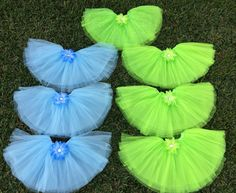 9 Tinkerbell Tutus Secret of the Wings Party Blue by partiesandfun, $90.00. Great for your next Secret of the Wings or Tinkerbell party. www.partiesandfun.etsy.com