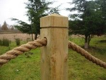 Want to remember the top of this post when I make my rope fence.                                                                                                                                                                                 More