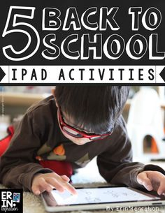 5 Back to School iPad Activities - So many ideas for using iPads in creative ways in the beginning of the year for icebreakers, games, and all-about-me projects! FREE download at the link.