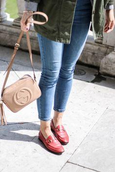 a94a4a644e3 Burggarten  High Waisted Jeans   Gucci Jordaan Loafer