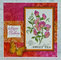 MMM Indian Summer challenge creation with Stampendous image. Background and all colouring done with Distress inks.