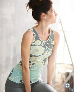zinni™ by Garnet Hill Twist-Back Yoga Tank -- Coveting.